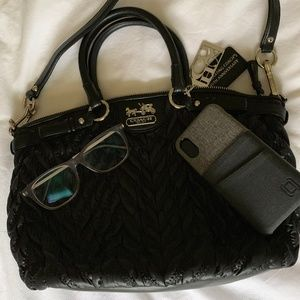 Coach Madison Quilted Lindsey Satchel